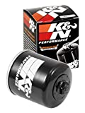 K&N Motorcycle Oil Filter: High Performance, Premium, Designed to be used with Synthetic or Conventional Oils: Fits Select Honda, Kawasaki, Polaris, Yamaha Vehicles, KN-303 , Black